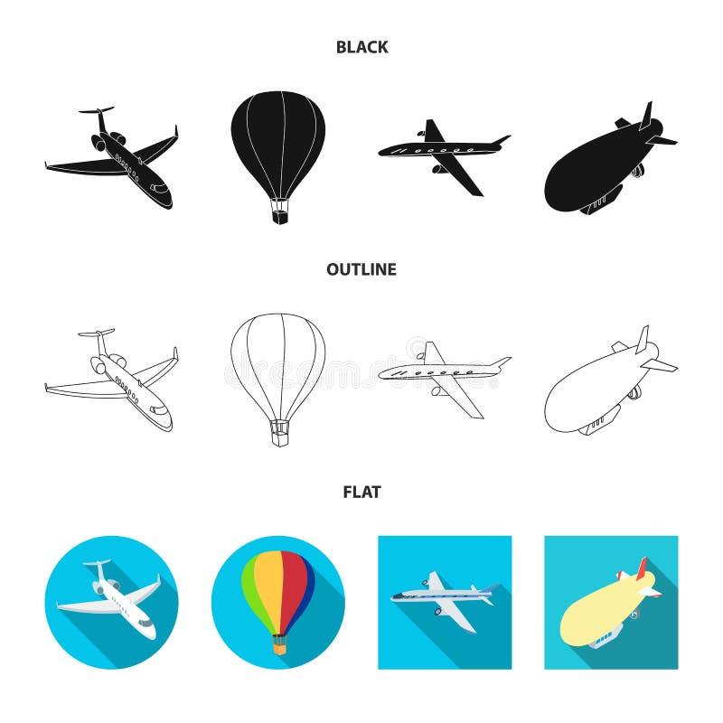 Conception de vecteur de logo de transport et d'objet Placez du transport et de l'ic?ne de glissement de vecteur pour des actions illustration de vecteur