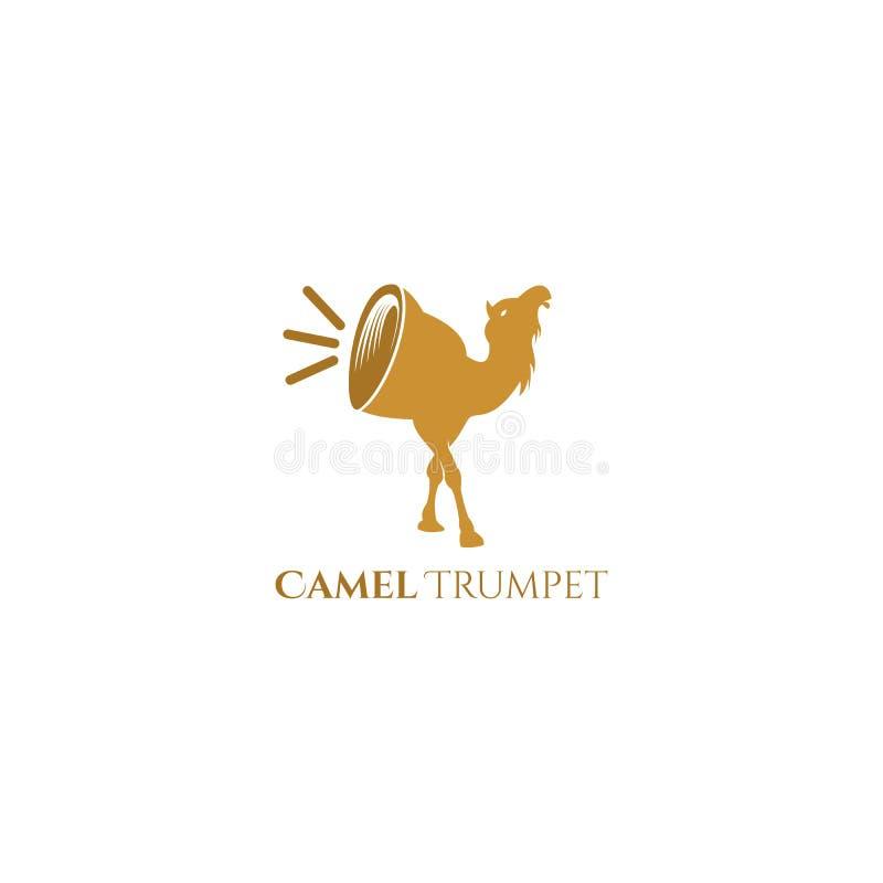 Conception de vecteur de logo de trompette de chameau illustration libre de droits