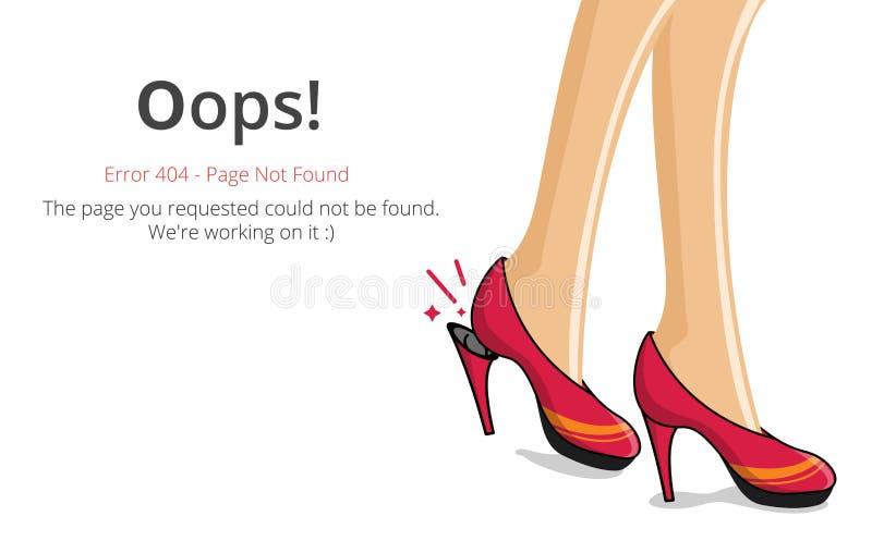 Conception de vecteur de mise en page de l'erreur 404 illustration de vecteur