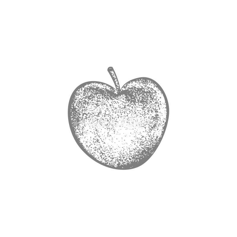 Conception de vecteur de pomme d'aspiration de main illustration de vecteur