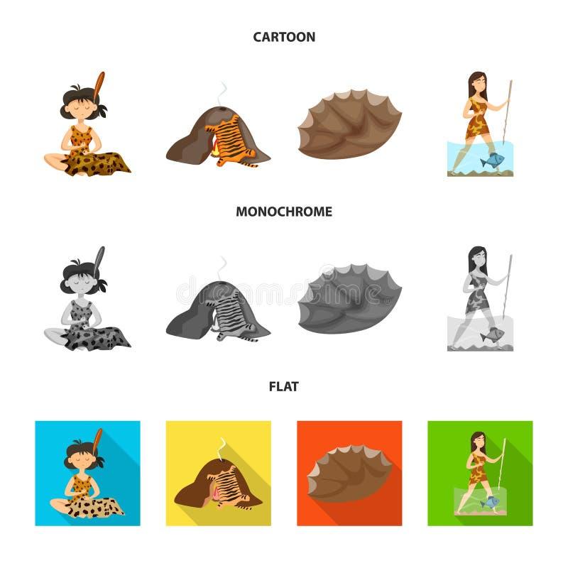 Conception de vecteur de signe d'évolution et de préhistoire Collection de symbole boursier d'évolution et de développement pour  illustration libre de droits