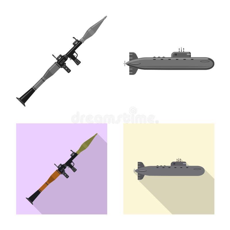 Conception de vecteur de signe d'arme et d'arme à feu Collection d'icône de vecteur d'arme et d'armée pour des actions illustration libre de droits