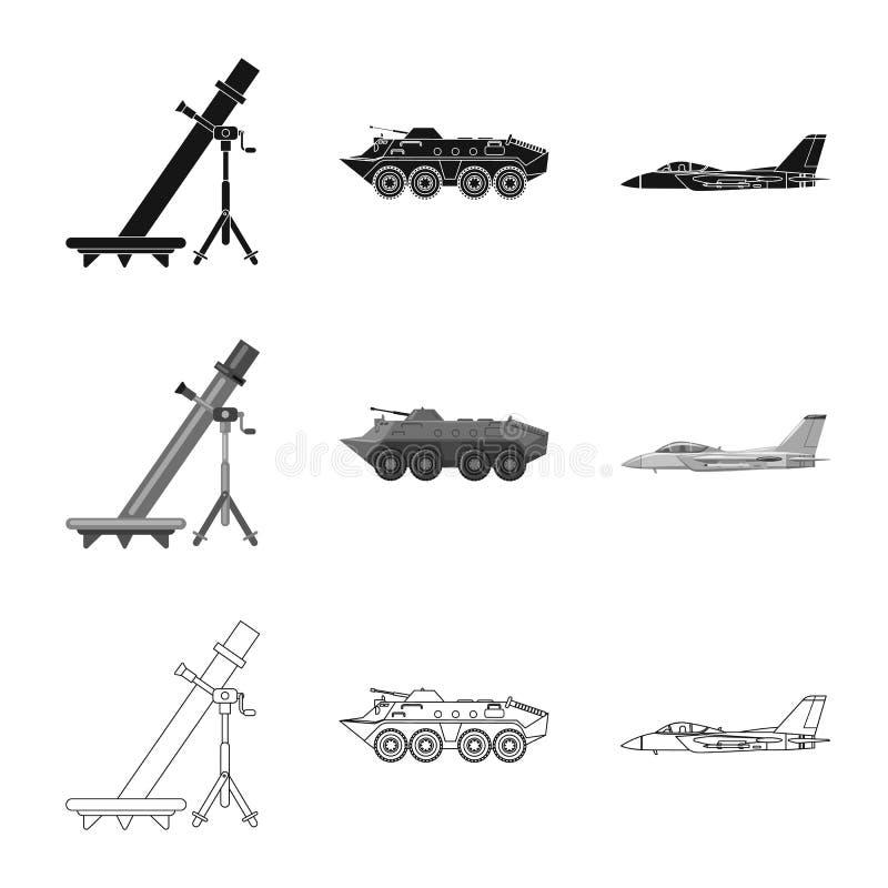 Conception de vecteur de signe d'arme et d'arme à feu Collection de l'illustration courante de vecteur d'arme et d'armée illustration stock