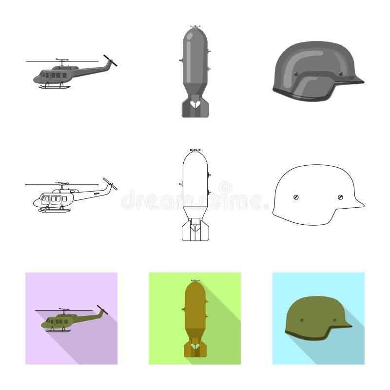 Conception de vecteur de signe d'arme et d'arme à feu Ensemble d'icône de vecteur d'arme et d'armée pour des actions illustration libre de droits