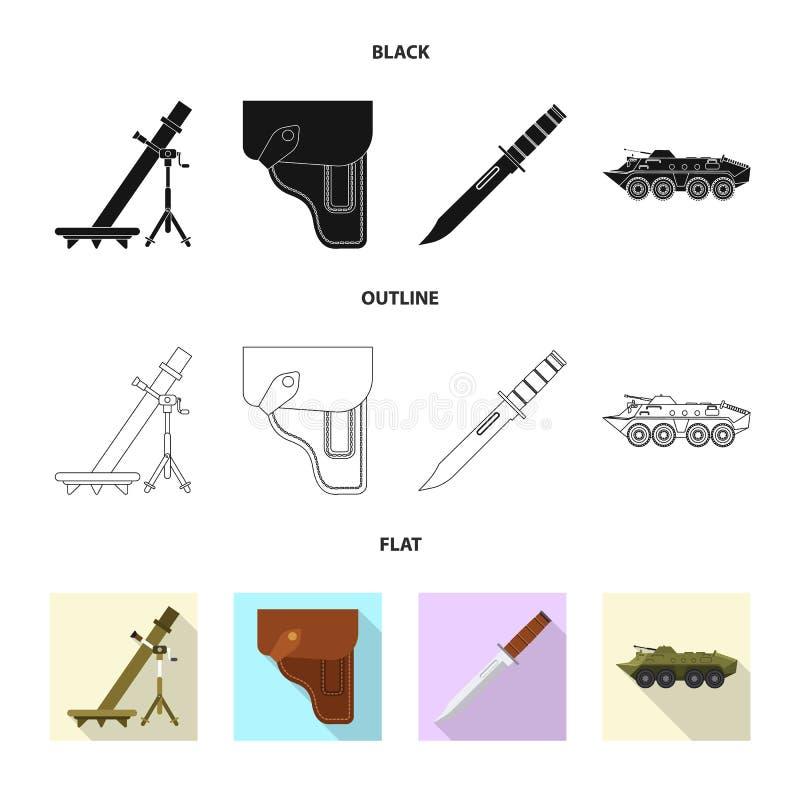 Conception de vecteur de signe d'arme et d'arme à feu Ensemble de symbole boursier d'arme et d'armée pour le Web illustration libre de droits