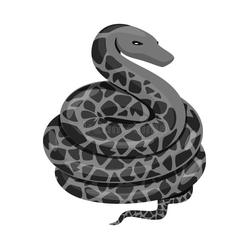 Conception de vecteur de signe de mal et de morsure Collection de mal et icône de vecteur de reptile pour des actions illustration de vecteur