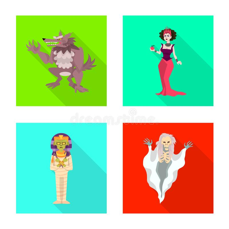 Conception de vecteur de signe de mystique et d'enfer Collection de symbole boursier de mystique et de diablerie pour le Web illustration stock