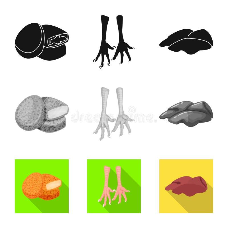 Conception de vecteur de signe de produit et de volaille Collection de produit et de symbole boursier d'agriculture pour le Web illustration libre de droits