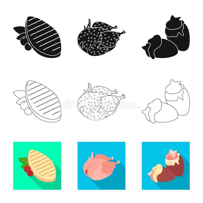 Conception de vecteur de signe de produit et de volaille Collection de produit et de symbole boursier d'agriculture pour le Web illustration de vecteur