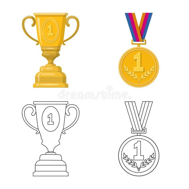 Conception de vecteur de sport et de logo de gagnant Collection de l'illustration courante de vecteur de sport et de forme physiq illustration de vecteur