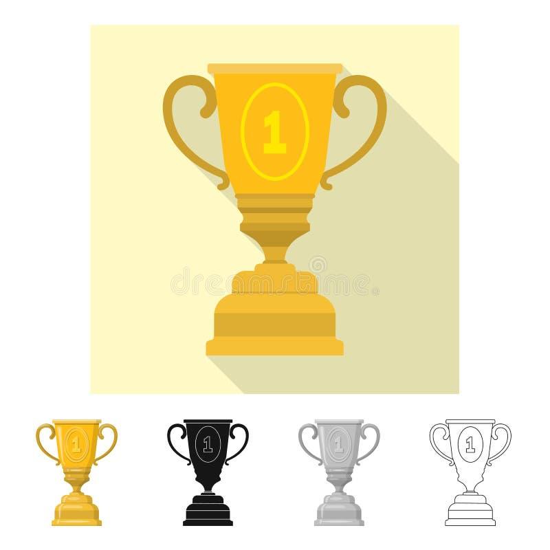 Conception de vecteur de sport et de signe de gagnant Placez du symbole boursier de sport et de forme physique pour le Web illustration de vecteur