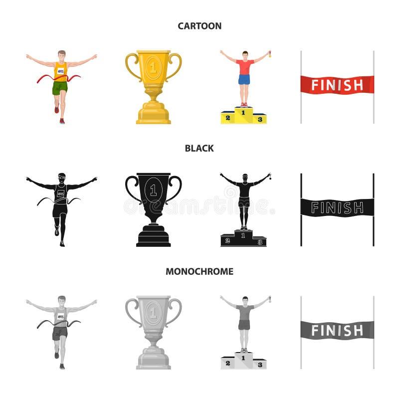 Conception de vecteur de sport et de symbole de gagnant Collection de l'illustration courante de vecteur de sport et de forme phy illustration stock