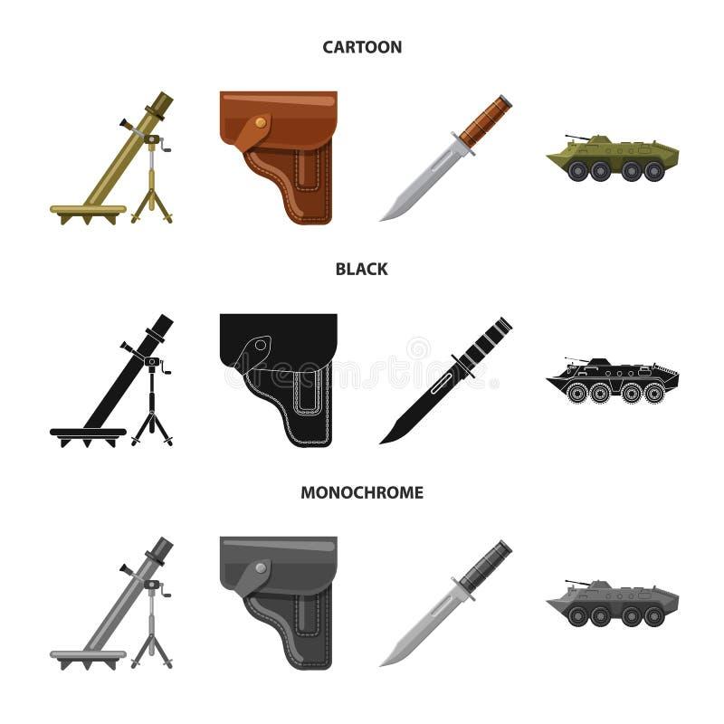 Conception de vecteur de symbole d'arme et d'arme à feu Collection de symbole boursier d'arme et d'armée pour le Web illustration stock