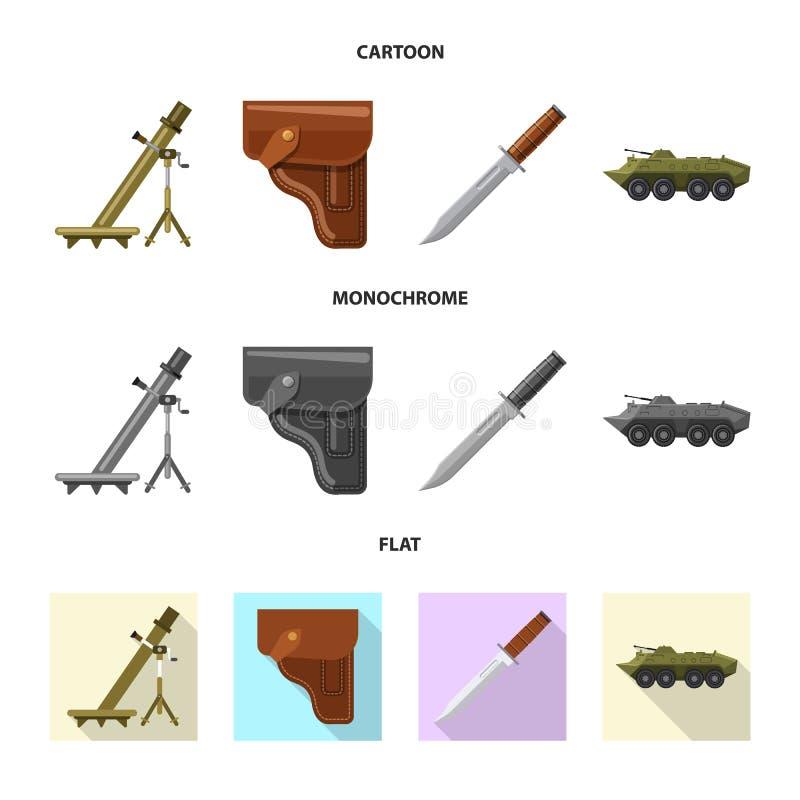 Conception de vecteur de symbole d'arme et d'arme à feu Collection d'icône de vecteur d'arme et d'armée pour des actions illustration stock