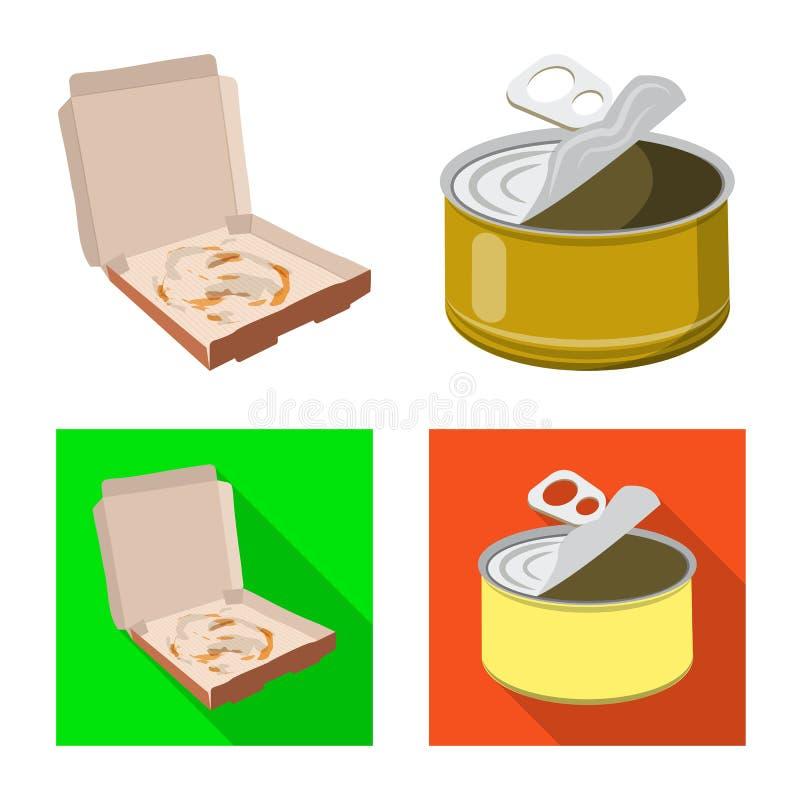 Conception de vecteur de symbole d'ordures et d'ordure. Placez du symbole boursier d'ordures et de d?chets pour le Web illustration stock