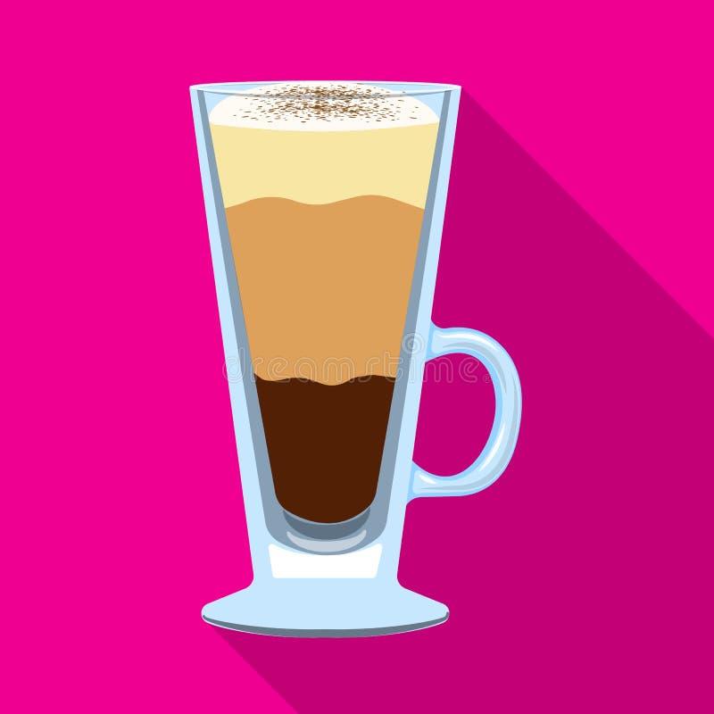 Conception de vecteur de symbole de tasse et de dessert Collection d'illustration de vecteur d'actions de tasse et de milk-shake illustration de vecteur