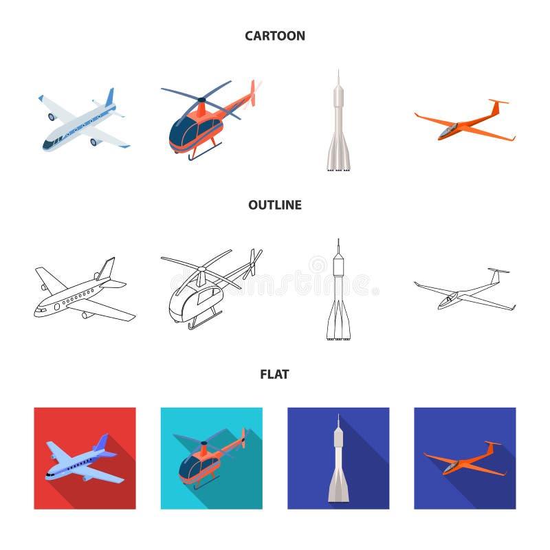 Conception de vecteur de symbole de transport et d'objet Collection de transport et de symbole boursier de glissement pour le Web illustration libre de droits