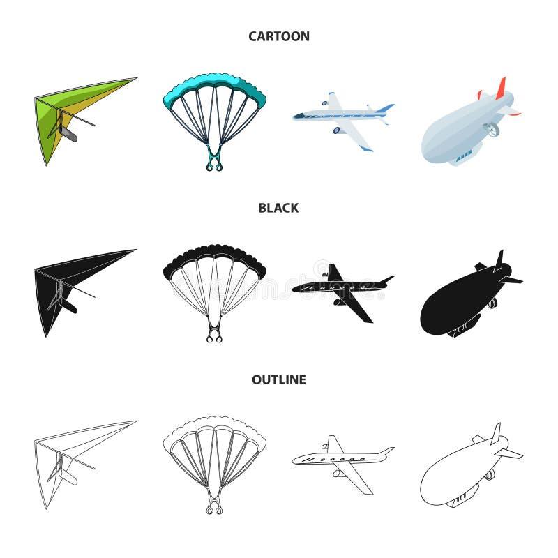 Conception de vecteur de symbole de transport et d'objet Collection de transport et d'illustration courante de glissement de vect illustration libre de droits