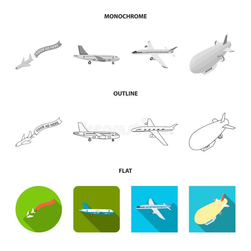 Conception de vecteur de symbole de transport et d'objet Placez du transport et du symbole boursier de glissement pour le Web illustration libre de droits