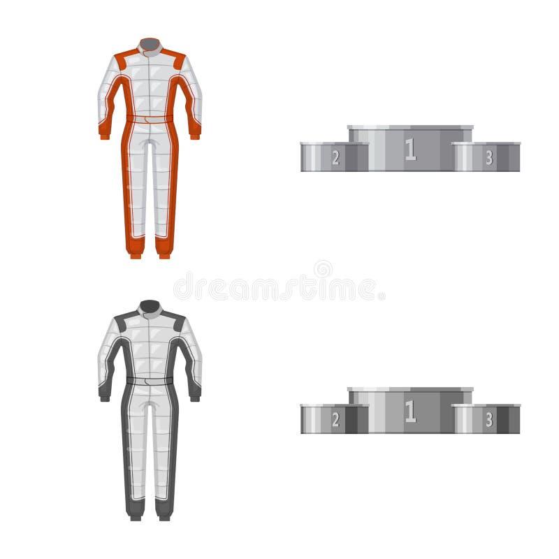 Conception de vecteur de voiture et d'icône de rassemblement Collection d'icône de vecteur de voiture et de course pour des actio illustration stock