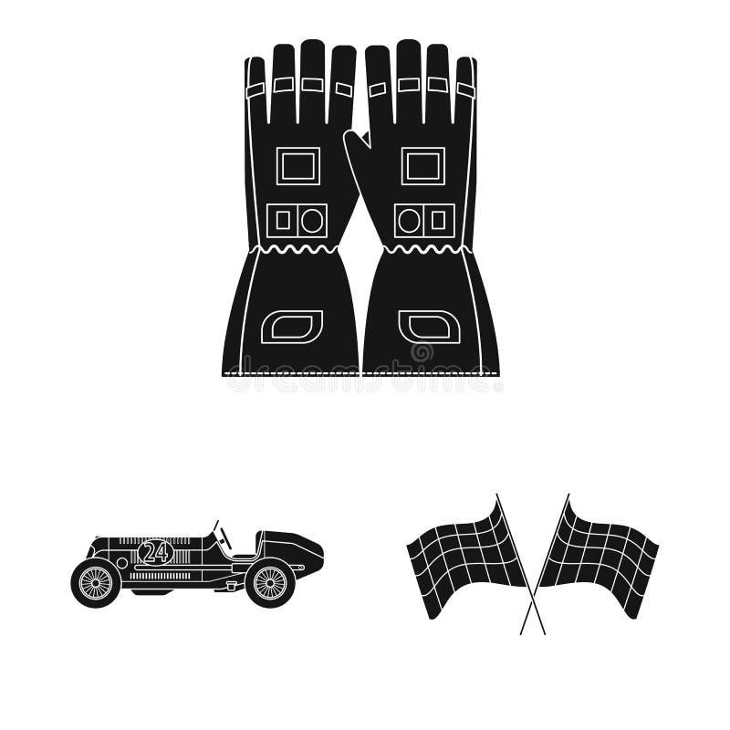 Conception de vecteur de voiture et de logo de rassemblement Collection de l'illustration courante de vecteur de voiture et de co illustration libre de droits