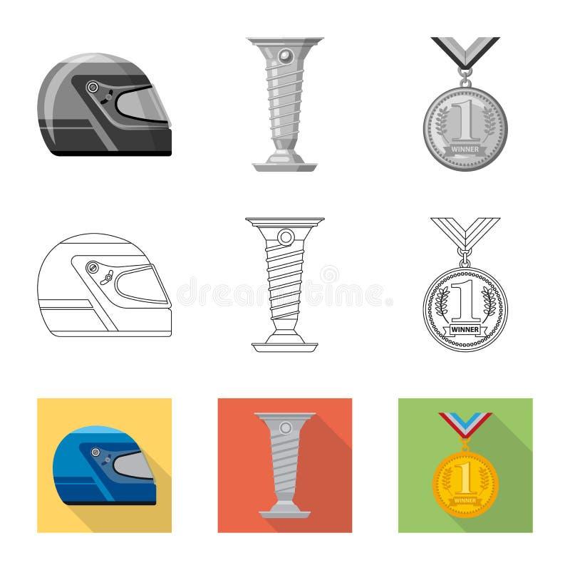 Conception de vecteur de voiture et de logo de rassemblement Collection de symbole boursier de voiture et de course pour le Web illustration de vecteur