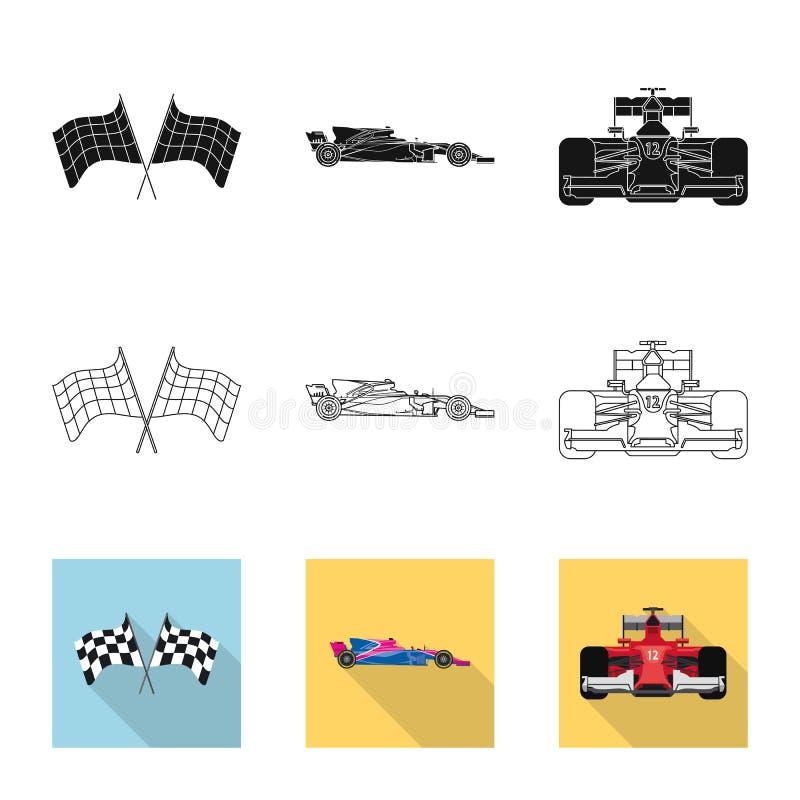 Conception de vecteur de voiture et de symbole de rassemblement Collection de symbole boursier de voiture et de course pour le We illustration libre de droits