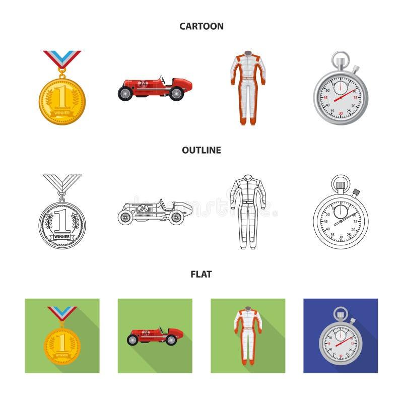 Conception de vecteur de voiture et de symbole de rassemblement Ensemble d'illustration courante de vecteur de voiture et de cour illustration stock