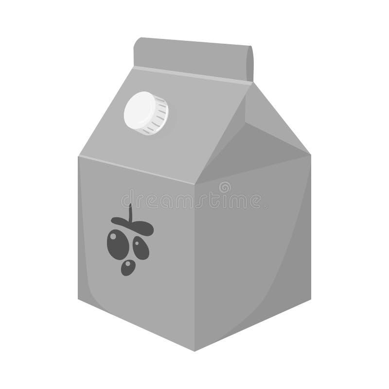 Conception de vecteur de yaourt et de symbole de empaquetage Collection de symbole boursier de yaourt et de lait pour le Web illustration libre de droits