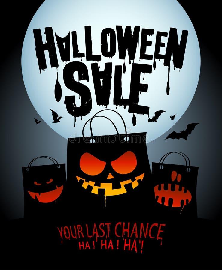 Conception de vente de Halloween. illustration stock