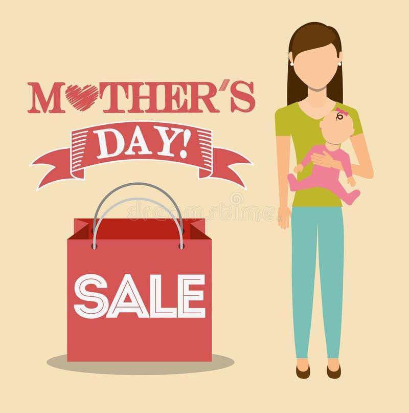 conception de vente de jour de mères illustration libre de droits