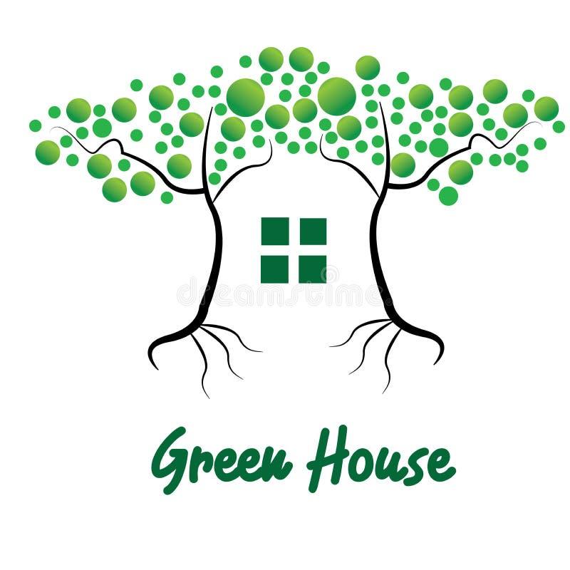 Conception de vert d'arbre ou Chambre verte illustration libre de droits