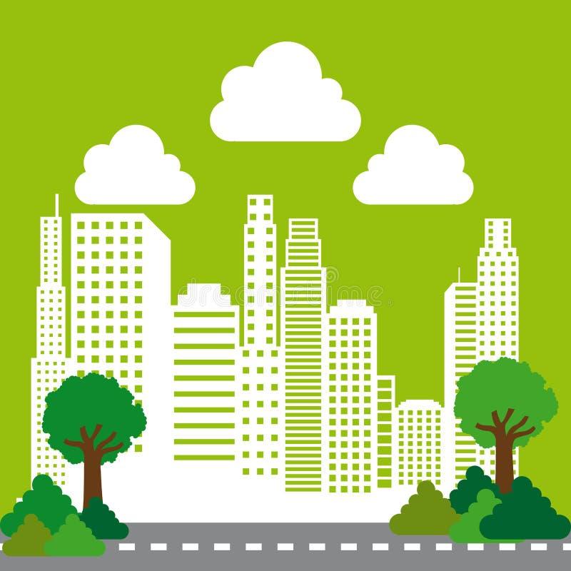Conception de ville illustration libre de droits