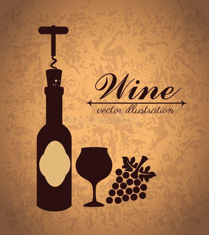 Conception de vin illustration stock