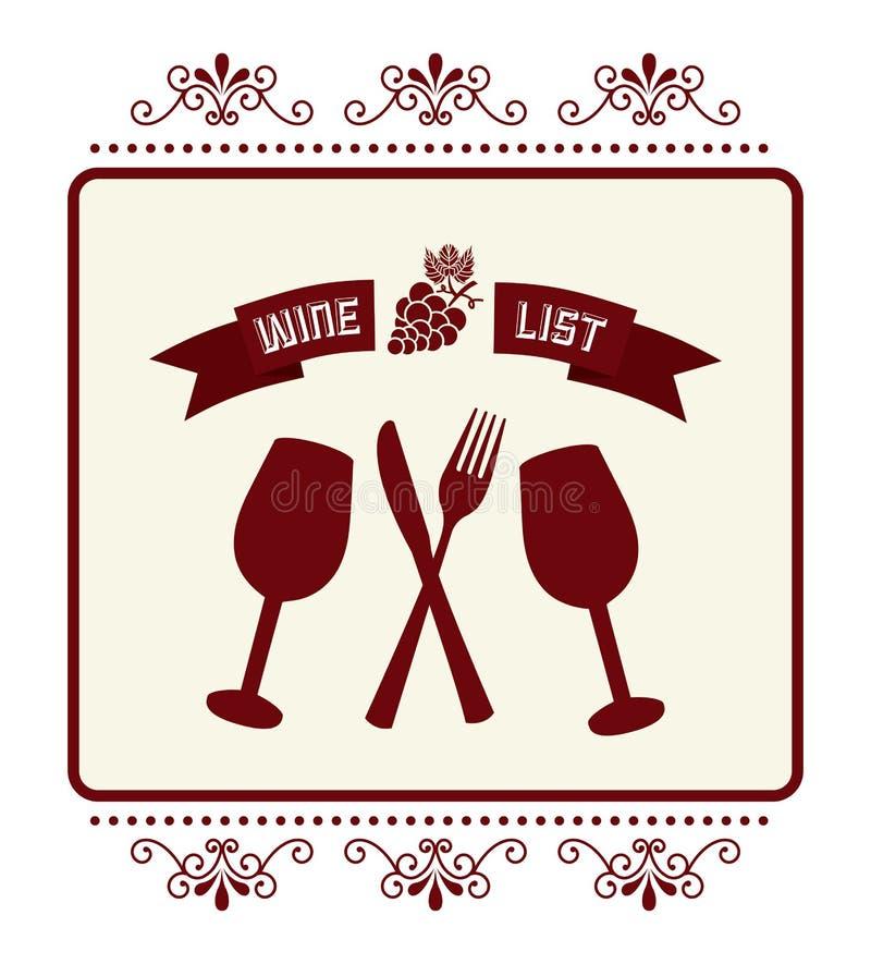 Conception de vin illustration libre de droits