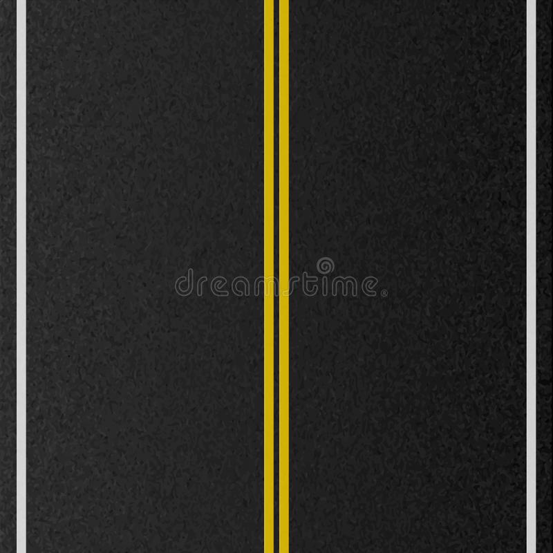 Conception de voie urbaine vide Route d'inscription, texture d'asphalte Illustration de vecteur illustration libre de droits