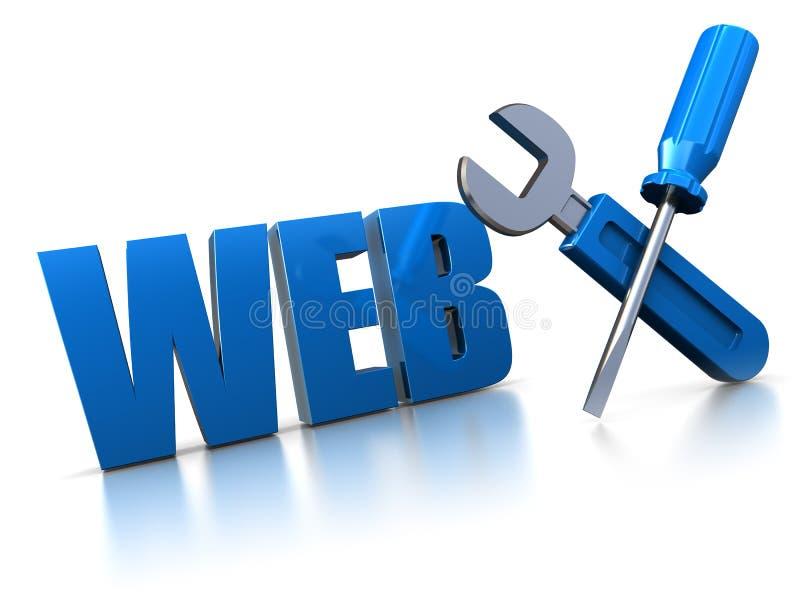 Conception de Web illustration stock