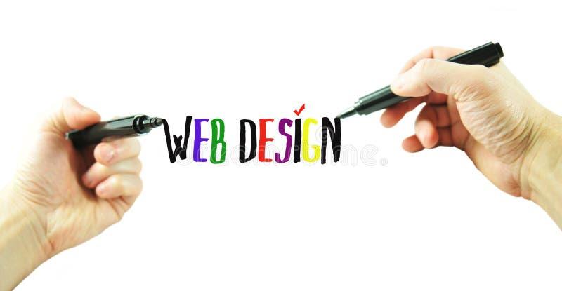 Conception de Web images stock