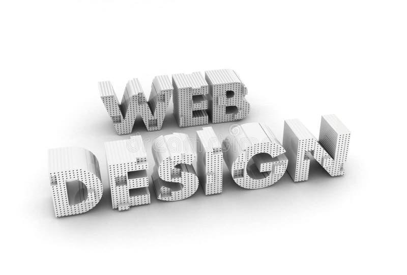 Conception de Web pour des sites Web illustration stock