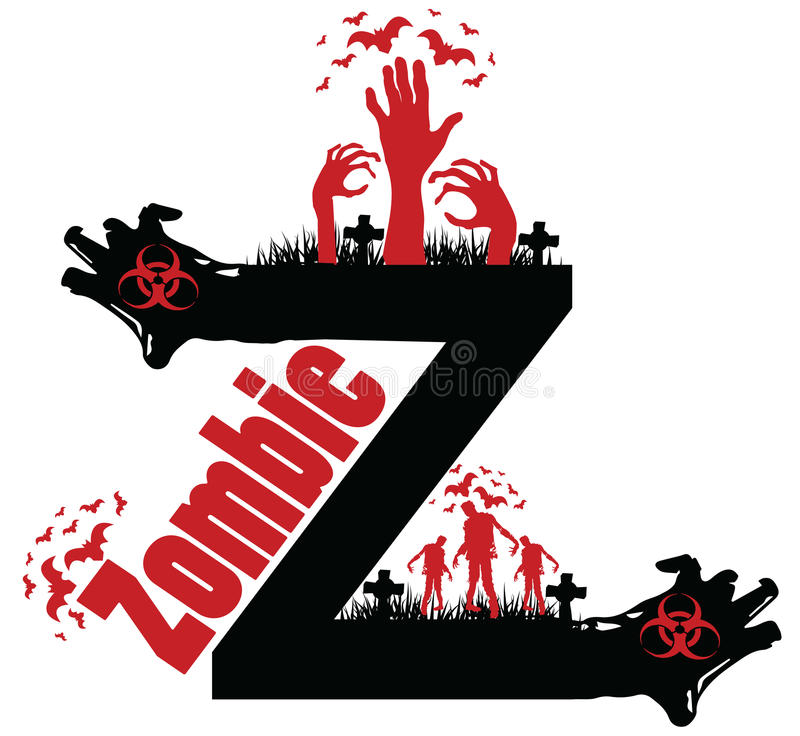 Conception de zombi photo stock