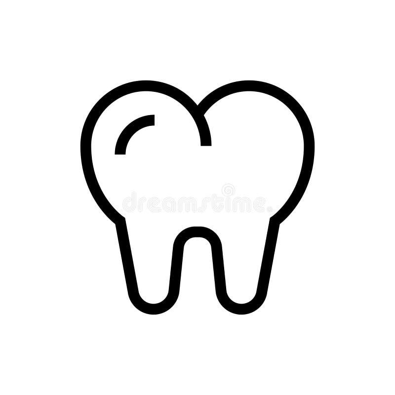 Conception dentaire d'icône de dent illustration médicale de soins de santé de schéma illustration libre de droits