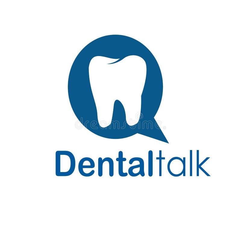 Conception dentaire de logo d'entretien illustration stock