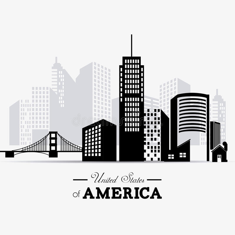 Conception des Etats-Unis illustration libre de droits