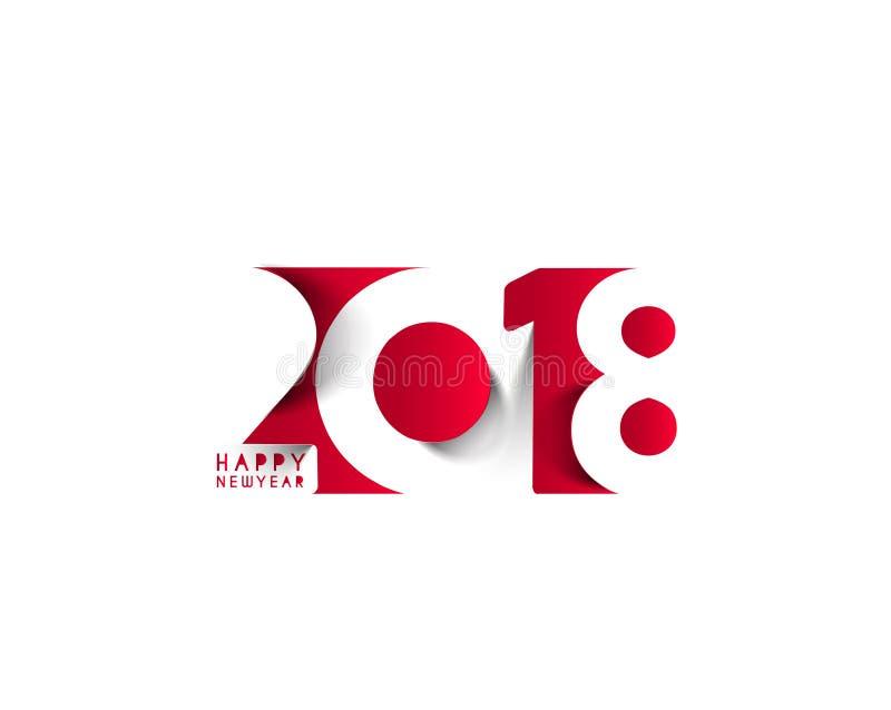 Conception des textes de la bonne année 2018 illustration de vecteur
