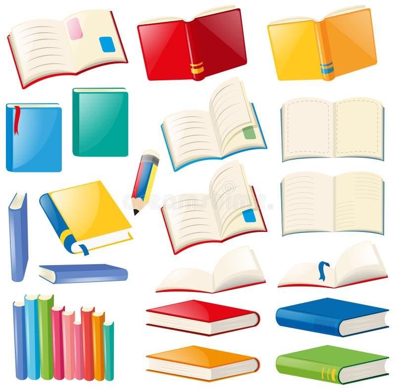Conception différente de livre et de carnets illustration stock