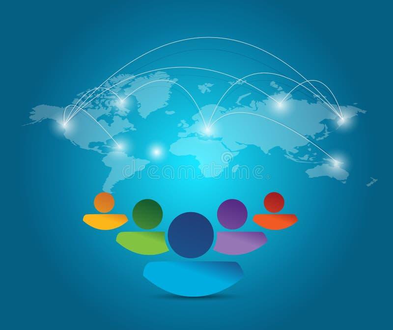 Conception diverse d'illustration de réseau de personnes illustration stock