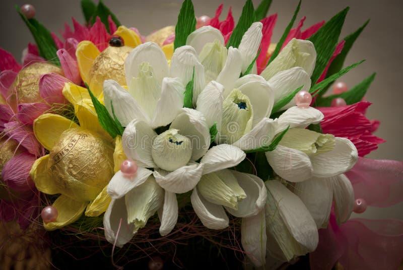 Conception douce, bouquet de sucrerie, ressort, perce-neige images libres de droits