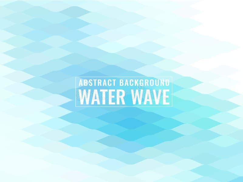 Conception douce de vecteur de texture de vague d'eau bleue de fond abstrait illustration stock