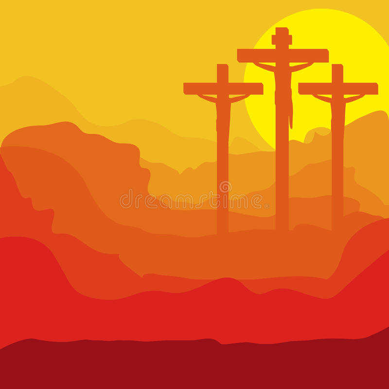 Conception du Christ illustration stock