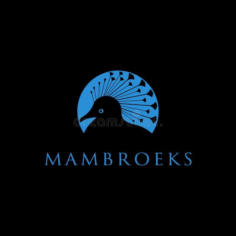 Conception du logo de Mambruk bird pour l'Indonésie illustration libre de droits